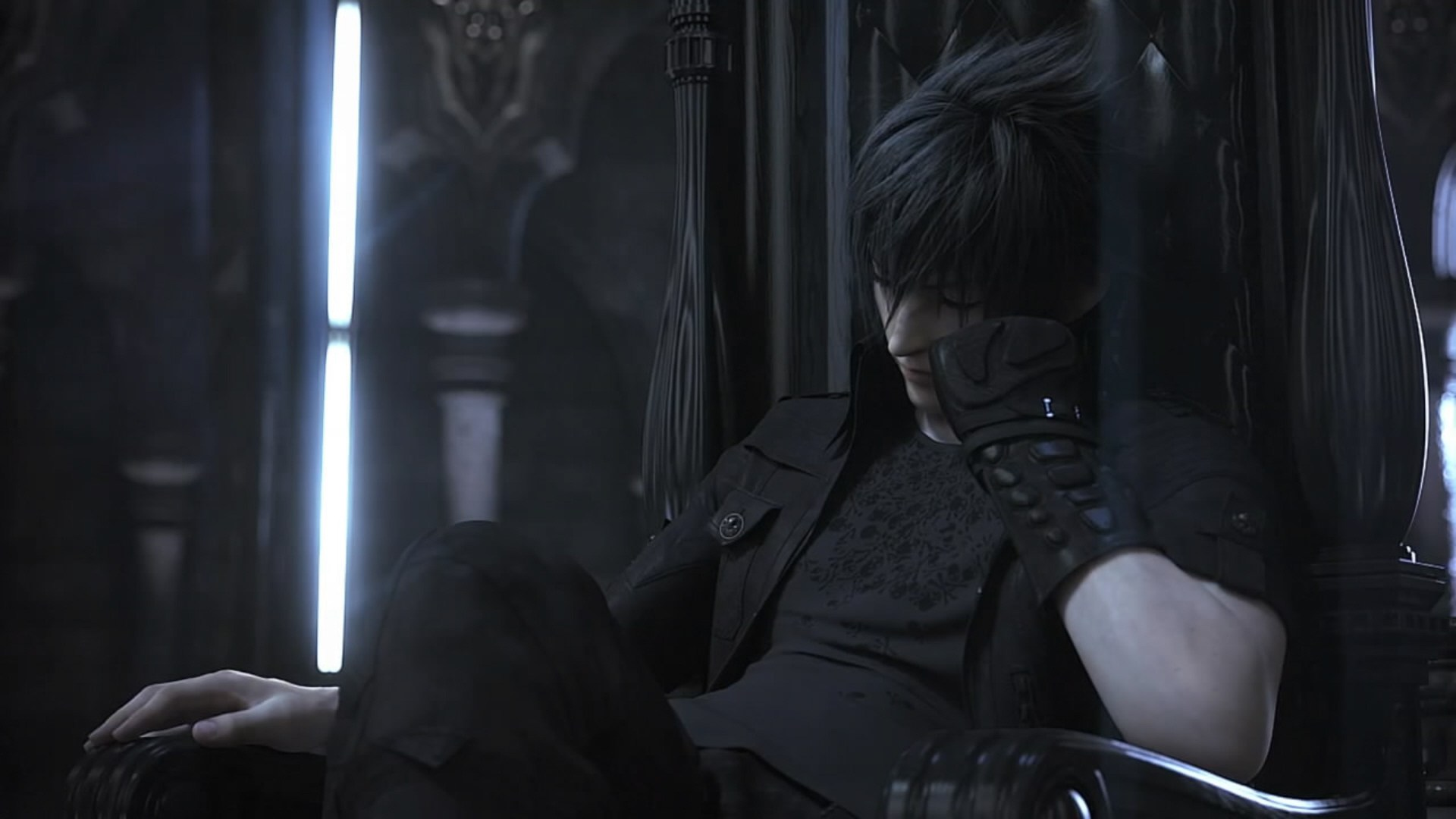 Final Fantasy Versus Xiii Waiting Impatiently On Throne Screenshot